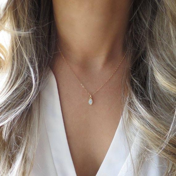 Tiny Opal Pendant