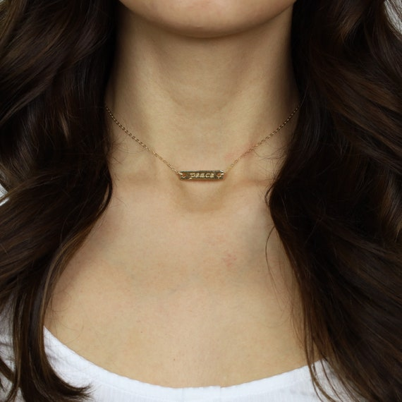 Gold Peace Necklace