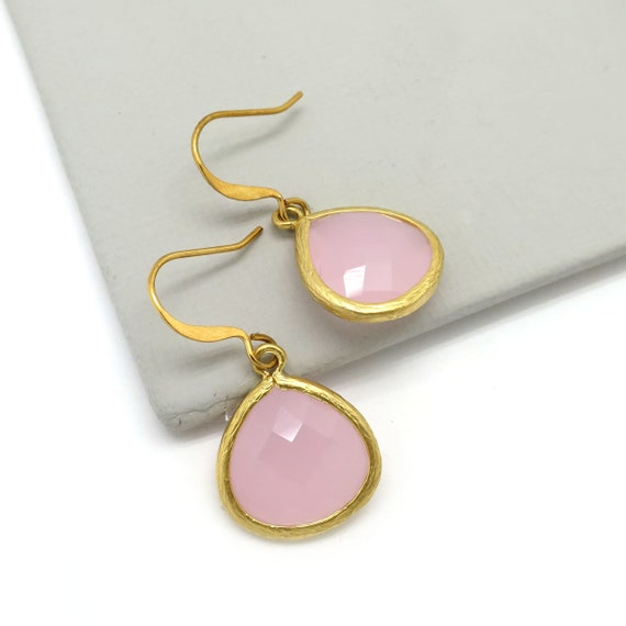 Light Pink Teardrop Earrings