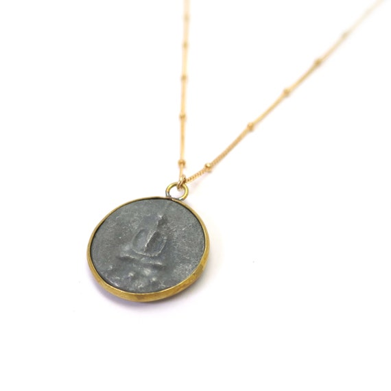 Gold Buddha Coin Necklace
