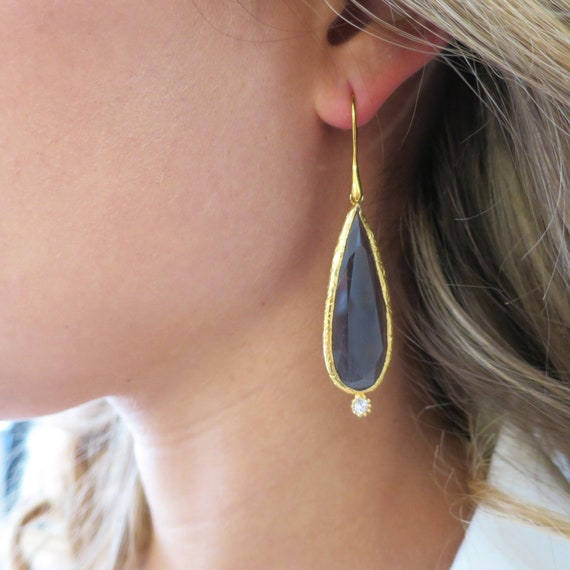 Amethyst Blue Drop Earrings