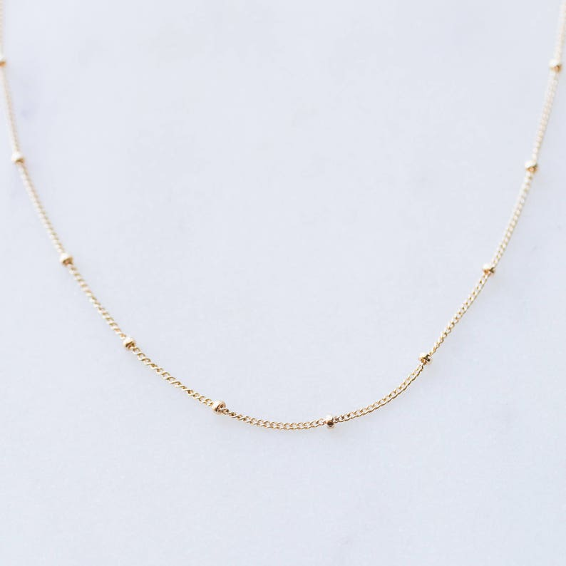 Gold Satellite Chain Satellite Necklace Gold Filled image 0