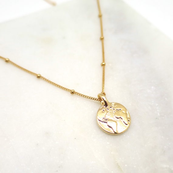 Gold Earth Necklace