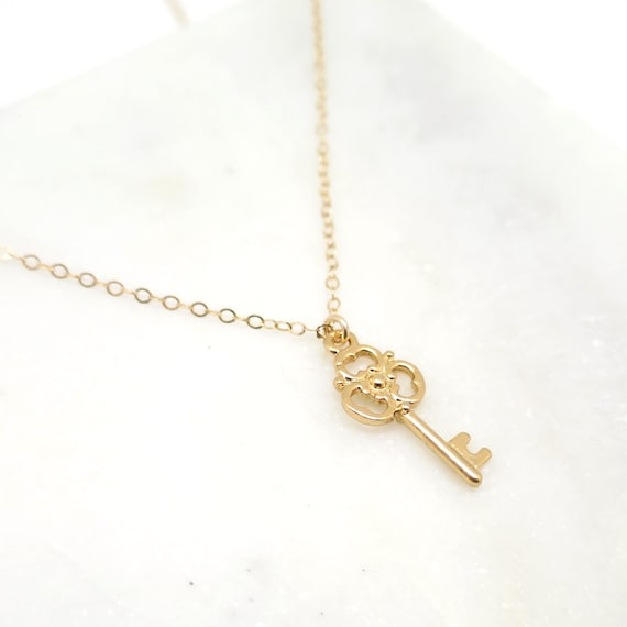 Small Gold Key Necklace