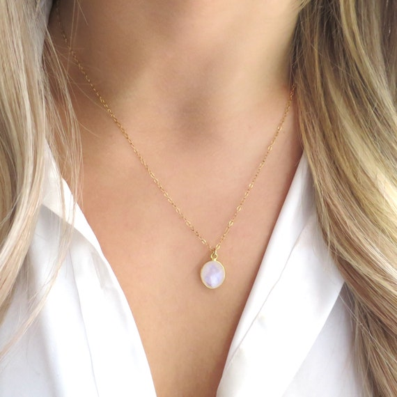 Moonstone Oval Necklace