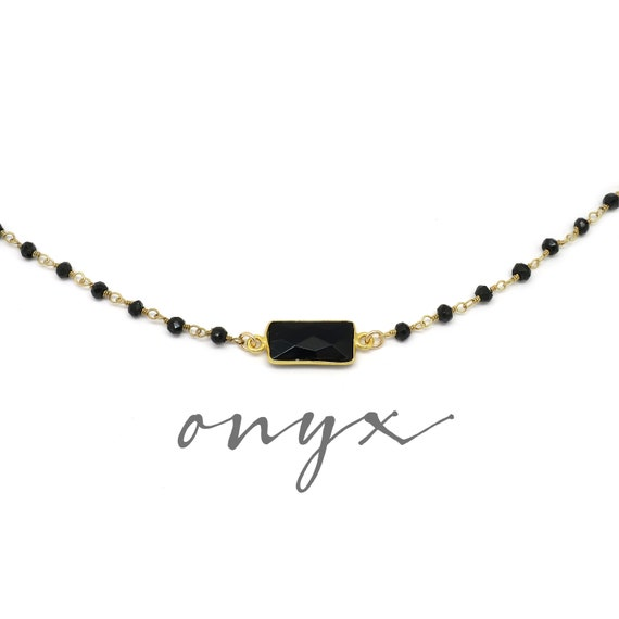 Black Onyx Choker Necklace