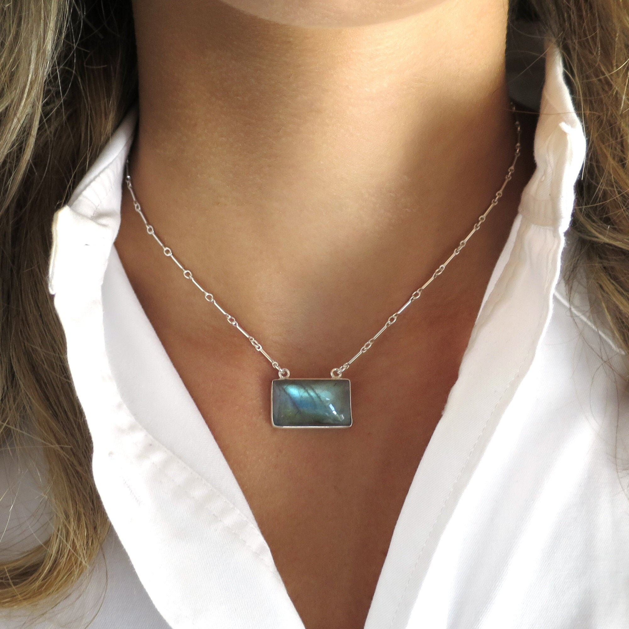14k Gold Fill or Sterling Silver Labradorite Necklace Stone Y Necklace Lariat Y Necklace Labradorite Lariat Necklace Celebrity Jewelry