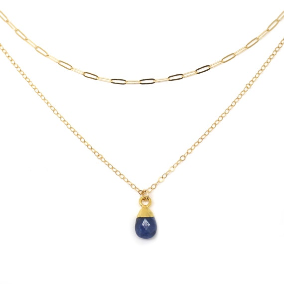 Sapphire Layer Necklace