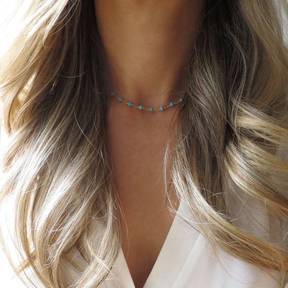 Turquoise Rosary Choker