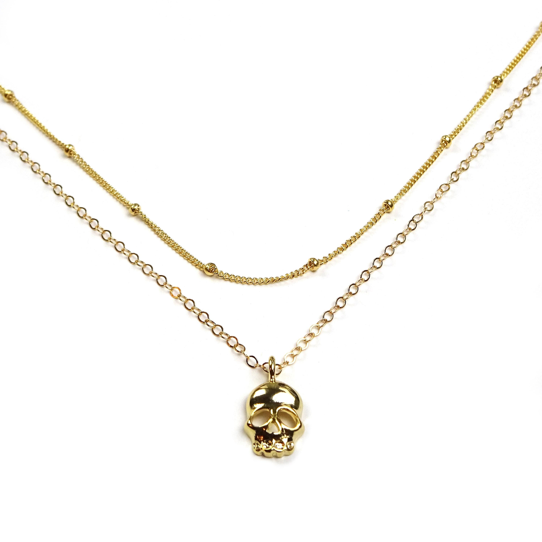 2e2a5e4cd8b Gold Skull Pendant Necklace - Pendant Design Ideas