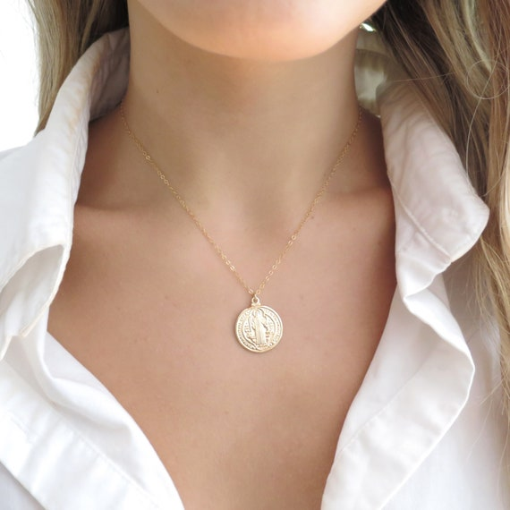 Gold St Benedict Necklace