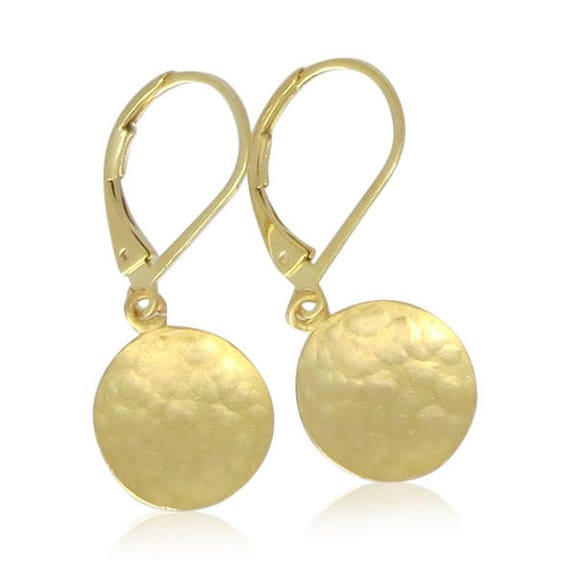 Small Hammered Gold Earrings