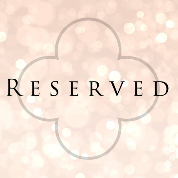Reserved for JoAnne