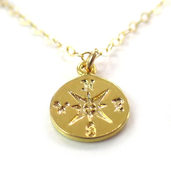 Gold Compass Necklace