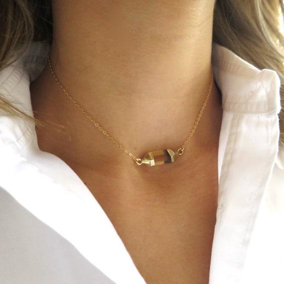 Hexagon Choker Necklace