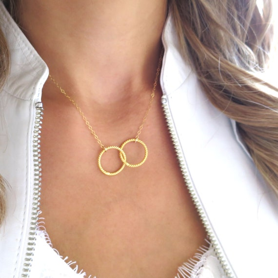 Twisted Two Circles Necklace