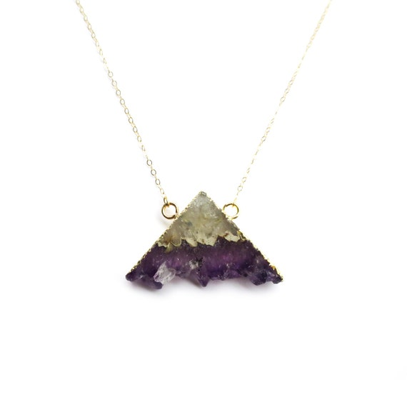 Raw Amethyst Mountain Necklace