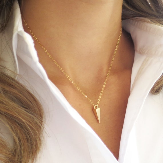 Dainty Gold Spike Necklace