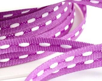 Narrow Dash Ribbon   5m Lengths   3mm wide   3 Colours - Black, Purple, Olive   UK Based   Last chance to buy! - UK Based