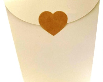 Taper Top Boxes | Wedding Favour Boxes | Just order what you need | White  or Ivory | 100% Recycled Board | UK Based