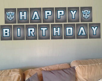 Chase (Blue) Transformer RescueBots Custom Party Letters & Numbers DIY Printable Digital File