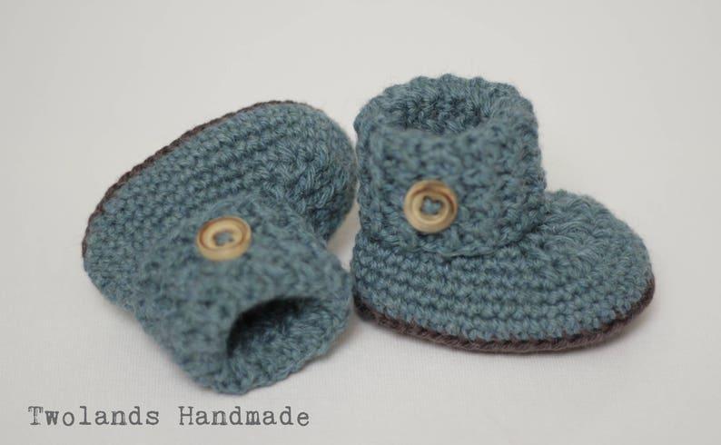 af09f19bf5d87 Light petroleum baby booties crochet, baby shoes, wollen shoes, woolen  booties, wool, baby booties, crochet booties, baby