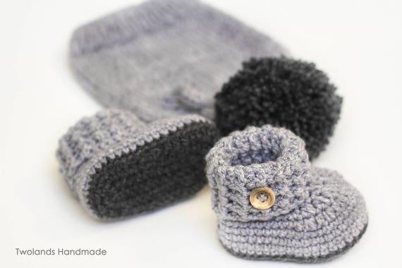 09579b71a baby boy set, baby girl set, hat and booties, handmade set, newborn set,  newborn gift, baby 0-3 months