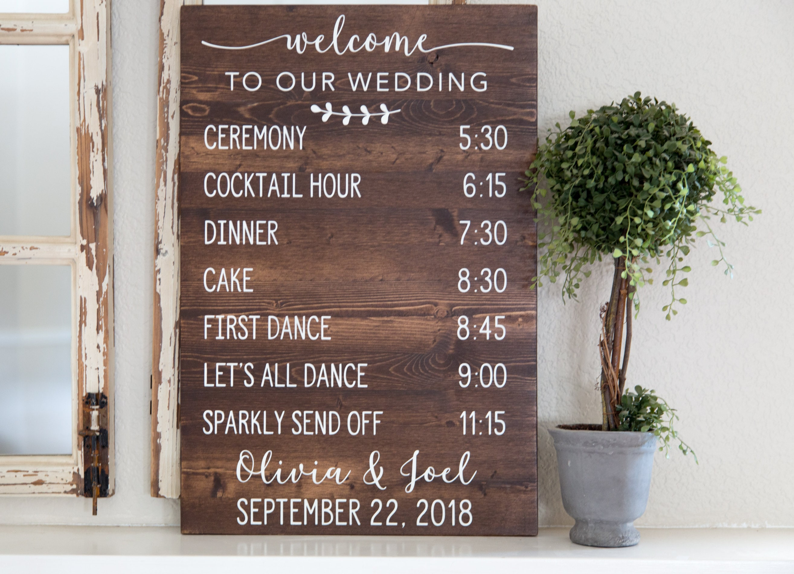 wedding schedule of events