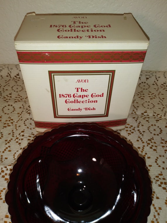 1876 Avon Cape Cod Collection Candy Dish Etsy
