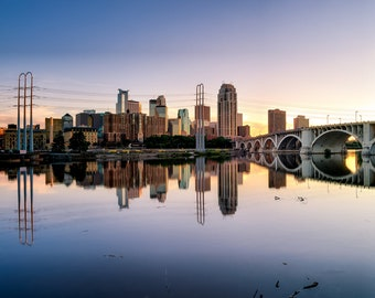 MPLS Reflection - Minneapolis, MN - Minneapolis Skyline Photography