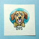 CUSTOM PET PORTRAIT watercolor with name