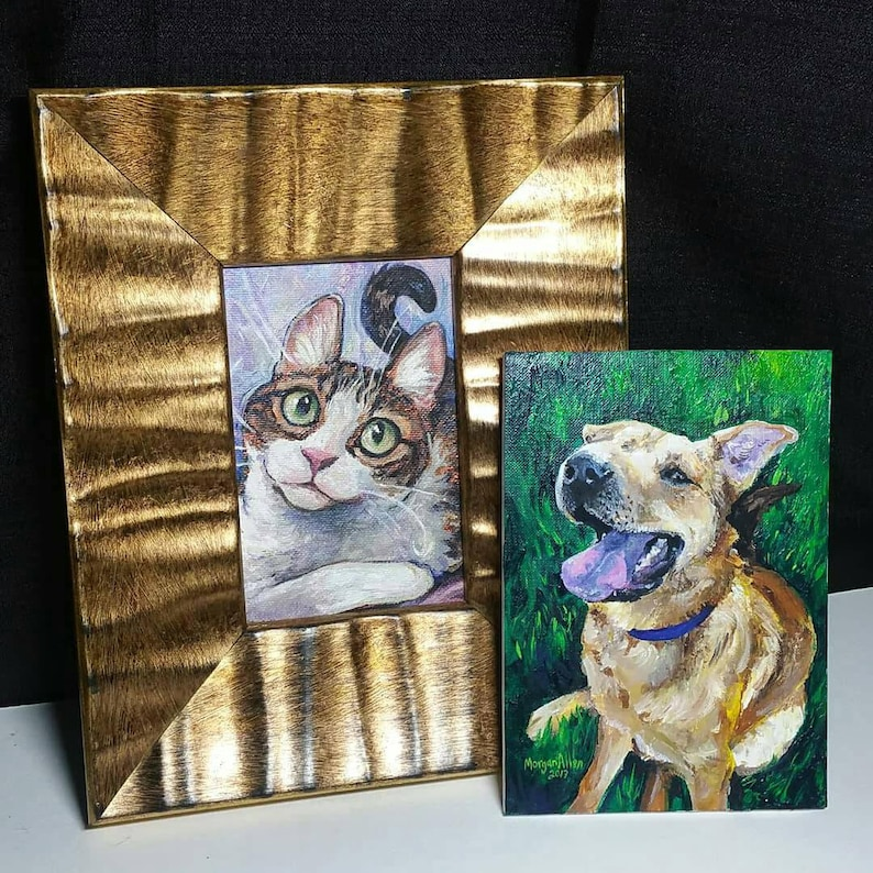 CUSTOM PET PORTRAIT  Acrylic on Canvas image 0