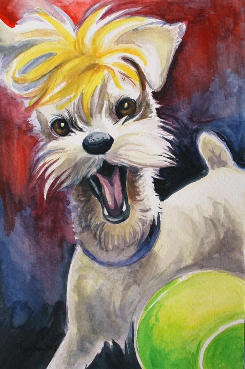 CUSTOM PET PORTRAIT  Watercolor Painting image 0