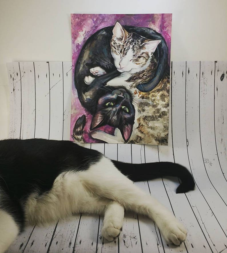 CUSTOM PET PORTRAIT 1-2 pets in Watercolor image 0