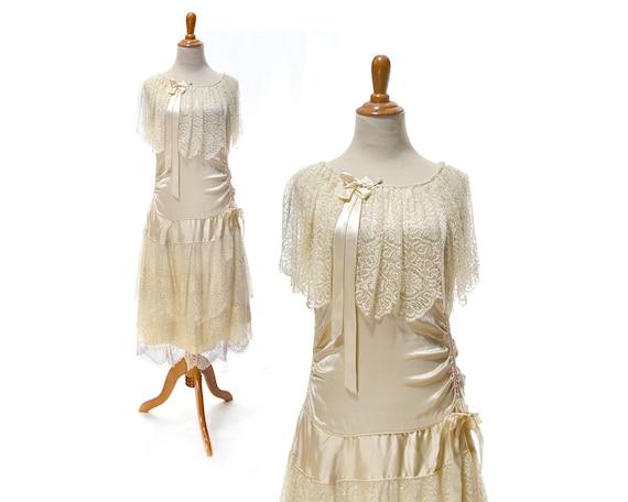 Size XS 1920s vintage wedding dress 20s wedding dr