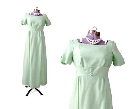 60s Prom Dress 1960 Formal Dress mint green dress