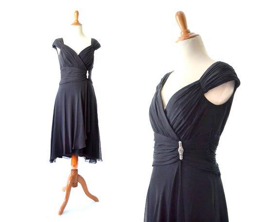 Black Cocktail Dress 1960s Style Dress 60s Style Dress Extra Etsy