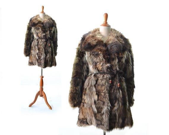 Mantel mit echtpelz damen