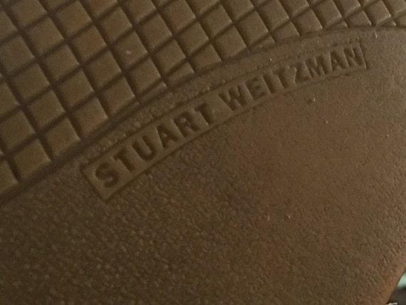 weitzman 7 taille cuir nu plat Stuart 7 espadrille cr en qEwdnH