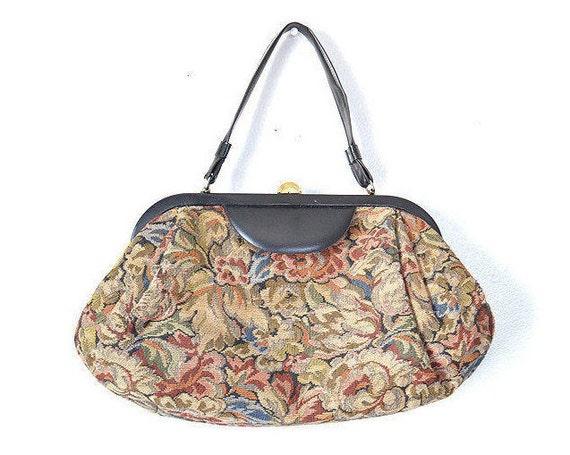 Tapestry purse tapestry bag carpet bag Vintage purse vintage  5bcf2b4f54a14