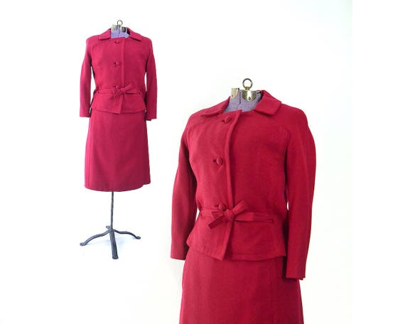 Red Suit Red Dress Suit Womens Suit 1950s Suit 50s Suit 1950s Etsy