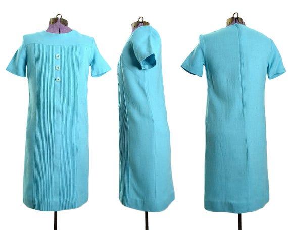 Extra Small Dress 60s dress Vintage 60s 1960s dress XS Linen blue Dress Womens Dress vintage Dress Dress Dress 1960s a7qwOa