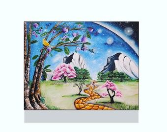 Journey, Surrealism, art, painting