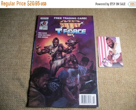 NOW Comics Superhero Comic Book Mr  T and the T Force with Trading Card Oct  1993 Vol 3, War Action Collectible Pristine Condition