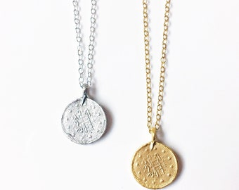 Gold pendant etsy odessa goldsilver coin pendant gifts for her layering pendant gold pendant coin pendant gold jewellery boho gold necklace aloadofball Images