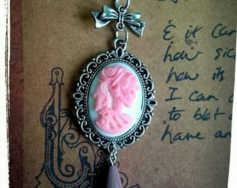 Sweet Zombie Girl Cameo Horror Vintage Inspired Necklace