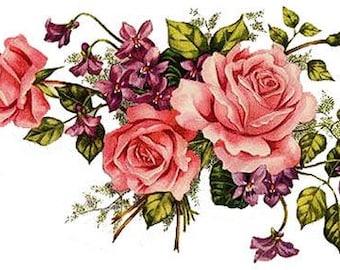 Bon Tea Rose Decals | Etsy