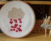 Cross Stitch Pattern, PDF Pattern, Modern Cross Stitch, Nursery Decor, Wedding, Baby Shower Gift, Cross Stitch Hearts