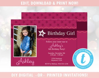 American Girl Invite Etsy