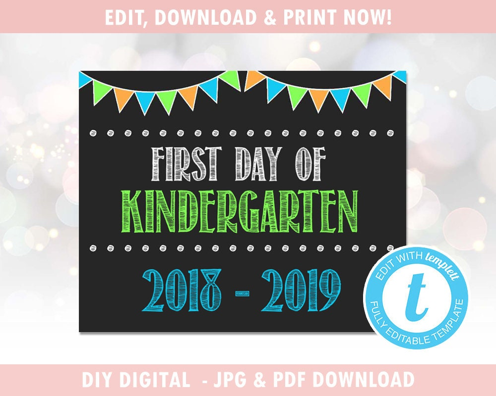 First Day Of School Sign Last Day Of School Sign 1st Day Etsy